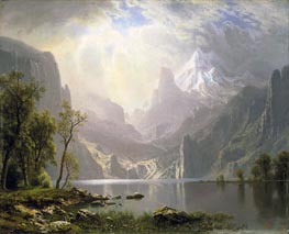 In the Sierras, 1868 by Bierstadt | Painting Reproduction