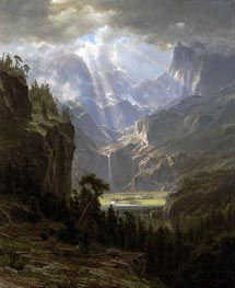 Rocky Mountains, Lander's Peak, 1863 by Bierstadt | Painting Reproduction