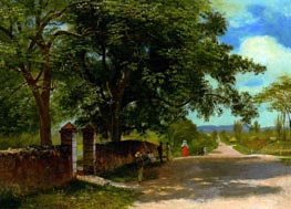 Street in Nassau, undated by Bierstadt | Painting Reproduction