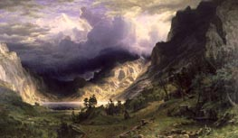 A Storm in the Rocky Mountains - Mountain Rosalie, 1866 by Bierstadt | Painting Reproduction