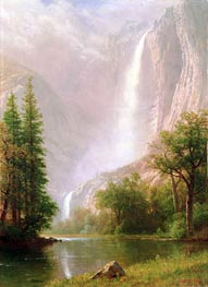 Yosemite Falls, c.1865/70 by Bierstadt | Painting Reproduction