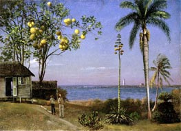 Tropical Scene, undated by Bierstadt | Painting Reproduction