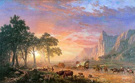The Oregon Trail, 1869 by Bierstadt | Painting Reproduction