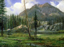 Sierra Nevada Mountains, undated by Bierstadt | Painting Reproduction