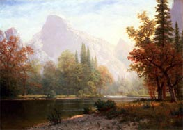 Half Dome, Yosemite, undated by Bierstadt | Painting Reproduction