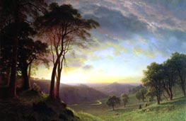 The Sacramento River Valley | Bierstadt | Painting Reproduction