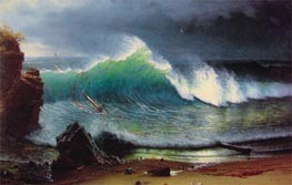 The Shore of the Turquoise Sea, 1878 by Bierstadt | Painting Reproduction
