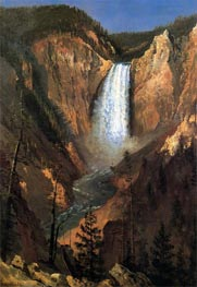 Lower Yellowstone Falls, 1881 by Bierstadt | Painting Reproduction
