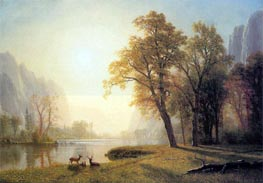 Deer in a Clearing, Yosemite, c.1873/74 by Bierstadt | Painting Reproduction