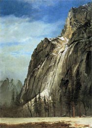 Cathedral Rocks, A Yosemite View, c.1872 by Bierstadt | Painting Reproduction