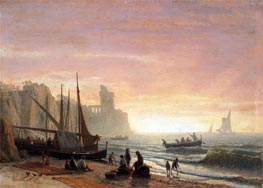 The Fishing Fleet, 1862 by Bierstadt | Painting Reproduction