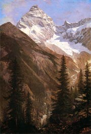 Canadian Rockies, Asulkan Glacier, undated by Bierstadt | Painting Reproduction