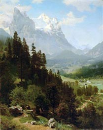 The Wetterhorn, Mch 15th, by Bierstadt | Painting Reproduction