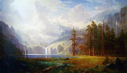 Mount Whitney - Grandeur of the Rockies, c.1877 by Bierstadt | Painting Reproduction