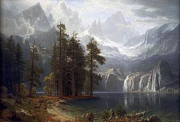 Sierra Nevada, c.1871 by Bierstadt | Painting Reproduction