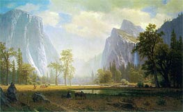 Looking Up the Yosemite Valley, c.1863/75 by Bierstadt | Painting Reproduction