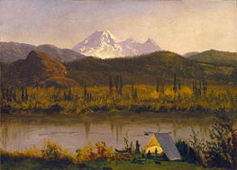 Mt. Baker, Washington, From the Frazier River, 1890 by Bierstadt | Painting Reproduction