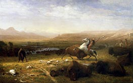 The Last of the Buffalo, c.1888 by Bierstadt | Painting Reproduction