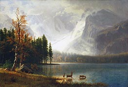 Estes Park, Colorado, Whyte's Lake, c.1877 by Bierstadt | Painting Reproduction