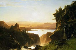 Island Lake, Wind River Range, Wyoming, 1861 by Bierstadt | Painting Reproduction
