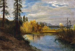 Outlet at Lake Tahoe, indated by Bierstadt | Painting Reproduction