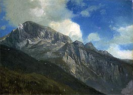 Mountains, indated by Bierstadt | Painting Reproduction