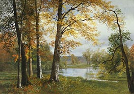 A Quiet Lake, undated by Bierstadt | Painting Reproduction