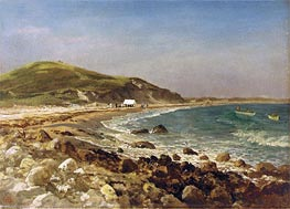 Coastal Scene, undated by Bierstadt | Painting Reproduction