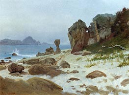 Bay of Monterey, undated by Bierstadt | Painting Reproduction
