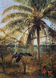 Palm Tree, Nassau | Bierstadt | Painting Reproduction