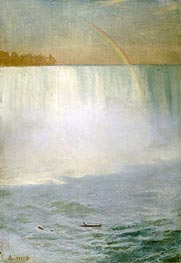 Waterfall and Rainbow, Niagara | Bierstadt | Painting Reproduction