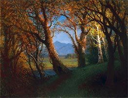 Sunset in the Nebraska Territory  | Bierstadt | Painting Reproduction