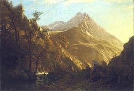 Wasatch Mountains, undated by Bierstadt | Painting Reproduction