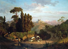Italian Mountains, 1859 by Bierstadt | Painting Reproduction