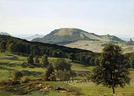 Landscape - Hill and Dale, undated by Bierstadt | Painting Reproduction