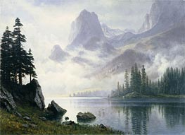Mountain out of the Mist, undated by Bierstadt | Painting Reproduction