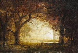 Forest Sunrise, undated by Bierstadt | Painting Reproduction