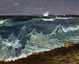 Seascape, undated by Bierstadt | Painting Reproduction