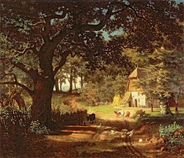 The House in the Woods, undated by Bierstadt   Painting Reproduction