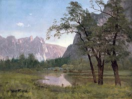 Yosemite Valley, undated by Bierstadt | Painting Reproduction