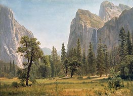 Bridal Veil Falls, Yosemite Valley, California, c.1871/73 by Bierstadt | Painting Reproduction
