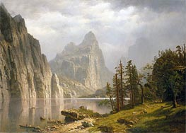 Merced River, Yosemite Valley, 1866 by Bierstadt | Painting Reproduction