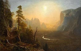 Yosemite Valley, Glacier Point Trail, c.1873 by Bierstadt | Painting Reproduction