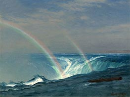Home of the Rainbow, Horseshoe Falls, Niagara, undated by Bierstadt | Painting Reproduction