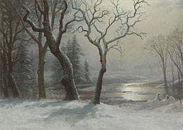 Winter in Yosemite, undated by Bierstadt | Painting Reproduction
