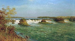 The Falls of Saint Anthony, c.1887 by Bierstadt | Painting Reproduction
