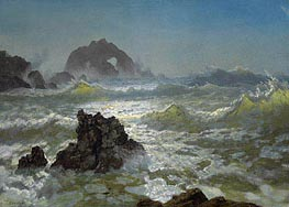 Seal Rock, California, c.1872 by Bierstadt | Painting Reproduction