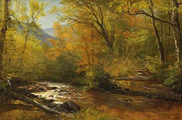 Brook in Woods, undated by Bierstadt | Painting Reproduction