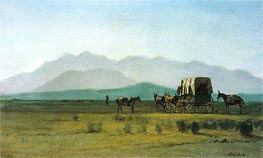 Surveyor's Wagon in the Rockies, 1859 by Bierstadt | Painting Reproduction