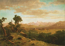 Wind River Country, 1860 by Bierstadt | Painting Reproduction